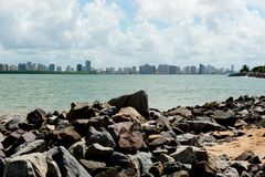 Aracaju - Sergipe. Brazil, view from the Atalaia Nova Beach Stock Photo