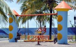 aracajuen lurar den offentliga parken Arkivbild
