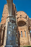 Aracha column. Ruins of the church from the middle age located in Vojvodina, Northern Serbia, near to the city of Novi Becej Stock Images