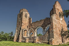 Aracha. Ruins of the church from the middle age located in Vojvodina, Northern Serbia, near to the city of Novi Becej Royalty Free Stock Photo