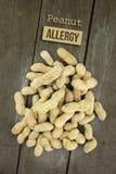 Arachide o arachide, allergia alimentare concettuale & salute Immagine Stock Libera da Diritti
