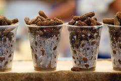 Arachides cuites Images stock