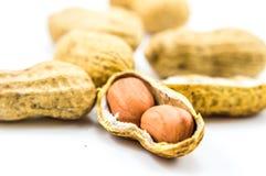 arachides sur le blanc 2 Image stock