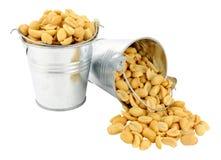 Arachidi salate in secchi miniatura Fotografia Stock Libera da Diritti
