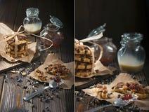 Arachidowi ciastka i czekoladowe krople Obrazy Royalty Free