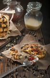 Arachidowy ciastko zbliżenie pokój Zdjęcia Royalty Free