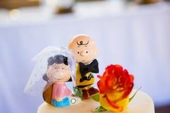 Arachidu Charlie Brown Ślubnego torta numer jeden Obrazy Royalty Free
