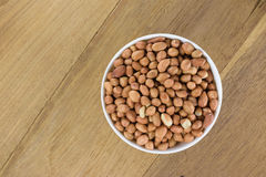 Arachis hypogaea. Shelled peanuts (Arachis hypogaea), legumes used for human consumption and animal feed Stock Photo