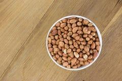 Arachis hypogaea. Shelled peanuts (Arachis hypogaea), legumes used for human consumption and animal feed Stock Photo