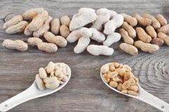 Arachis. Roasted peanuts, peanut peeled, whole peanuts. Food and drink concept Royalty Free Stock Image