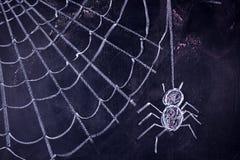Arachnophobia: Furcht vor Spinnen lizenzfreie stockfotos