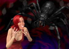 Arachnophobia Nightmare illustration Stock Images