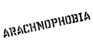 Arachnophobia rubber stamp Royalty Free Stock Photography