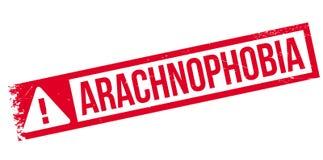 Arachnophobia rubber stamp Stock Photography