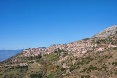Arachova. Panoramic view of Arachova town in Greece Royalty Free Stock Photography