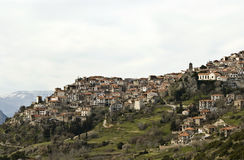 Arachova Dorf, Griechenland Lizenzfreies Stockbild