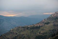 Arachova. The famous Greek winter resort of Arachova on mountain Parnassos near Delphi Stock Images