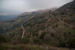 Arachova. The famous Greek winter resort of Arachova on mountain Parnassos near Delphi Stock Photos