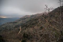Arachova. The famous Greek winter resort of Arachova on mountain Parnassos near Delphi Royalty Free Stock Photos