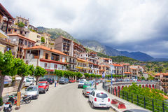 Arachova, Greece. 04 June 2016: View on the down town street in Royalty Free Stock Photos