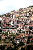 Settlement Arachova, Greece. ARACHOVA, GREECE - SEPTEMBER 19, 2012: It is a small mountain settlement located on one of the slopes of Mount Parnassus Stock Images