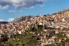 Arachova Greece. Arachova traditional mountain village, Greece Stock Images