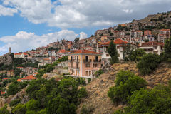 Arachova, Greece. Arachova is a traditional village on the slopes of mount Parnassus, Greece Stock Images