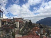 Arachova Parnasos. Mountain of Greece snow Royalty Free Stock Photos