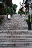 Arachova street stairs. In greece Stock Images