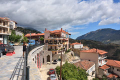 Arachova village in Greece Royalty Free Stock Photography