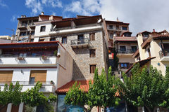 Arachova village in Greece Stock Images