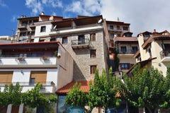 Arachova village in Greece. Arahiva, Greece - Sept 20, 2016: View on the famous resort of Arachova on mountain Parnassos, Greece Stock Images