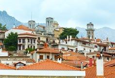 Arachova village, Greece. Arachova -  mountain village, built on the slopes of Mount Parnassos (Greece Stock Image