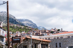 Arachova village. A view of the village of Arachova, Greece. A popular winter destination Royalty Free Stock Photo