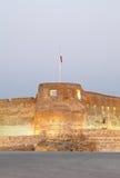 Arad堡垒照明设备在晚上 图库摄影