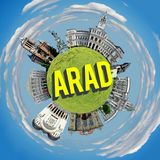 Arad微小的行星 免版税库存照片
