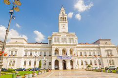 Arad City hall. Is situated on Revolution Avenue no. 75, jud. Arad Royalty Free Stock Photo