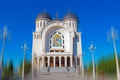 Arad, Romania. Holy Trinity cathedral Stock Images