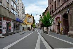 Arad city street Royalty Free Stock Photo