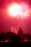 Arad fireworks 2010 Royalty Free Stock Photo