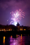 Arad fireworks 2010 i Stock Photos