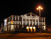 arad night romania state theatre Στοκ Φωτογραφίες