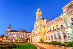 Arad, Romania: Administrative Palacein the cetral square, which stock photography