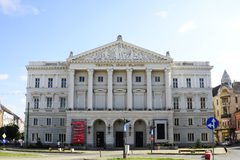 Arad theater. Arad city romania ioan slavici theater landmark architecture 26.08.2015 Stock Image