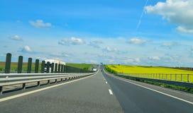 Arad Timisoara Highway. The highway from Arad to Timisoara city Romania landscape Royalty Free Stock Image