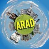 Arad tiny planet Royalty Free Stock Photo