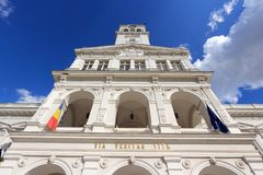 Arad Town Hall. Town Hall of Arad, Romania. Renaissance revival architecture Stock Photo