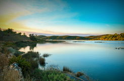 Arade river lake. Late afternoon view of the arade river near Portimão, Algarve, Portugal Royalty Free Stock Photography