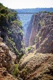 aradena峡谷 免版税库存照片