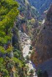 Aradena George en Creta Fotografía de archivo